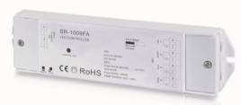 Funkaktor-RGBW-350mA-Eingang-12-36VDCAusgang-4x-035A-168-504W-Masse-46x178x18mm