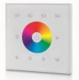 Wandfernbedienung-DMX-RGBW-4-Zonen-Masse-86x86x41mm