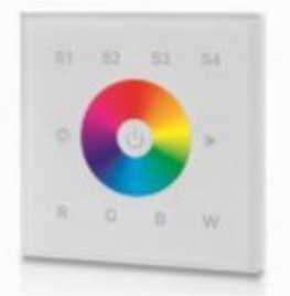 Wandfernbedienung-RGBW-4-Szenen-Masse-86x86x41mm
